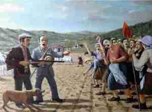 Raffigurazione dell' assassinio di Giuditta Levato